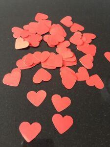 300 X Romantic Red  Paper Heart-valentines-wedding-engagement Confetti-2.5cm