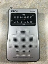 Elpa ER-C37F FM AM Portable Pocket Radio - Works Great
