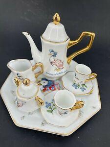 Beatrix Potter PETER RABBIT Jamima Tea Pot & Set Children Mini Pretend play