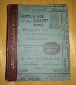Polk's OAKLAND California City Directory 1939  Berkeley Alameda Emeryville