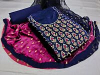 Wadding Salwar Kameez Indian Pakistani Shalwar Dress Chanderi Moti Work Suit Hf1