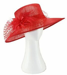 Sinamay Spring Racing Larges brim Hats. 5 colors available.