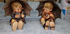 Goebel Hummel 152/II A Umbrella Boy TMK5 / 152/II B Umbrella Girl TMK5 EXCELLENT