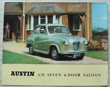 AUSTIN A30 SEVEN 4 DOOR SALOON Car Sales Brochure c1955 #850/D