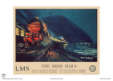 IRISH MAIL RETRO VINTAGE ANGLESEY HOLIDAY RAILWAY TRAVEL POSTER ADVERTISING