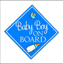 Baby Boy On Board Decal Baby Boy Car Sticker Vinyl