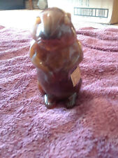 """Caramel Slag End O' Day Glass by Imperial Woodchuck 4 1/2"""""""