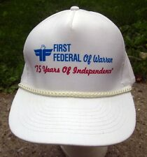 FIRST FEDERAL OF WARREN bank cap 75 Years Independence baseball hat Ohio eagle