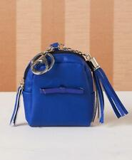 MINI BACKPACK KEYCHAIN: COMPACT, HOLDS ID, COINS, CREDIT CATDS, CLIPS ON: BLUE