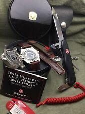 Swiss EDC set Watch WENGER COMPASS  / Swiss Army Knife Victorinox 111 mm (DE-GM)