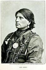 Native American Indian Sioux Chief Red Shirt 1892 7x5 Inch Reprint Photo