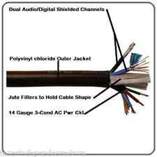 RH AC-Audio 2CH Digital, 14GA AC Mains Composite Powered Cable 500 Feet US Made!
