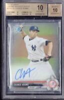 BGS 10 PRISTINE CHANCE ADAMS AUTO 2017 Bowman Chrome Prospects YANKEES Rookie RC