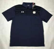 UNDER ARMOUR MENS L NOTRE DAME VICTOR POLO NAVY NWT 1293909 410 E3
