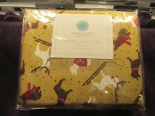 Brand New, Marha Stewart Full Flannel Sheet Set, 'Puppy Love',100% Cotton