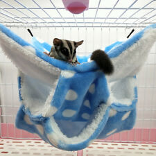 Small Pet Cage Glider Hammock Hamster Cage Bedding Cozy Small Animals Bed Hg