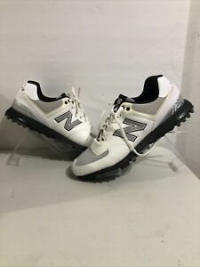New Balance Mens NBG574 White Gray Lace Up Golf Shoes Size US 10.5