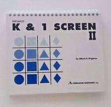 NEW Brigance K & 1 Screen II, Kindergarten & 1st Grade Assessment Tool Grade K 1