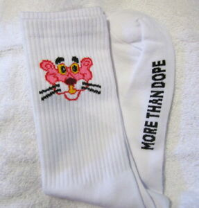 Pink Panther Socks~More Than Dope~White~Womens Girls Unisex