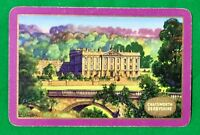 Playing Cards 1 Swap Card - Old Vintage ENN English Named CHATSWORTH DERBYSHIRE