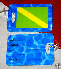 Luggage tags scuba diving equipment snorkel beach travel Nitrox flag gift fun