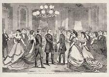 PRESIDENT ANDREW JOHNSON LAST FORMAL WHITE HOUSE GATHERING IMPEACHMENT 1868