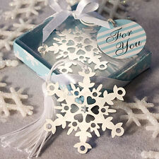 50 Snowflake Bookmark Favors wedding favors winter favor