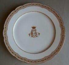 "Porzellanteller, Adelsmonogramm  ""A C O"" Freiherrenkrone Goldrand Monogram 1820"