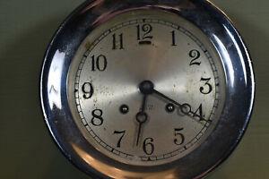 Chelsea Ships Bell Clock, Six inch, Chrome, not running
