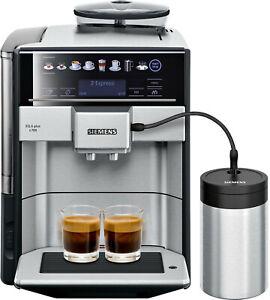 SIEMENS TE65703DE EQ.6 plus Edelstahl, schwarz Kaffeevollautomat Neu & OVP