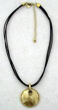 LIA SOPHIA Mother of Pearl PENDANT NECKLACE gold tone triple strand cord