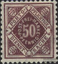 Württemberg d154 examinado usado 1921 dígitos en rombo