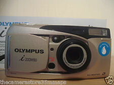Olympus Zoom i 60 Data Al Quarzo ~ Panorama APS Film Camera Lens ~ 28-75MM ~ Timer (2D12)