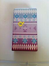 Blue/Purple Aztec Hard Plastic Cigarette Case 100's Push Flip Up Top Nwt