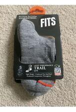 NWT Fits Socks Small Trail Midweight Merino Wool Gray