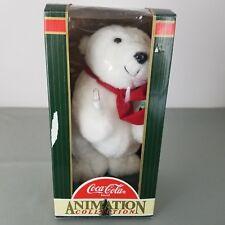 Coca Cola Animation Collection Coke Polar Bear 1996 Christmas With Original Box