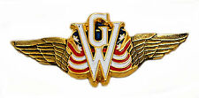 Flying Wings emblem with GW and US flag 3 1/8 inch