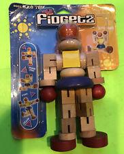 Wild Time Fidget2 Wooden Poseable Man/Robot
