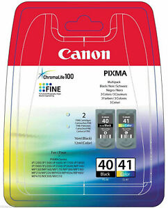 Genuine Canon PG-40/CL-41 Ink Cartridges