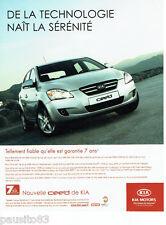 PUBLICITE ADVERTISING 125  2007  KIA la nouvelle  Kia CEE'D
