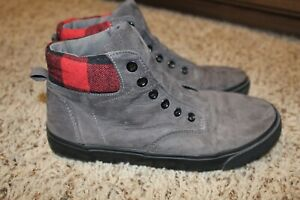 Old Navy Grey and Red High Top Sneakers Shoes Skater Size 4/5 Retails $45