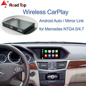 Wireless CarPlay Android Auto Interface for Mercedes Benz E-Class W212 2011-2015
