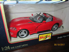DODGE VIPER RT/10 red 1995 Special Edition Maisto 1:24 Die Cast Collectors Car