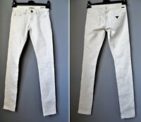 GUESS jeans bianco avorio LOS ANGELES 1981 skinny donna 38 size 24 CURVE X denim