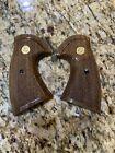 Vintage Factory Colt Firearms Python Wood Grips