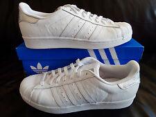 Adidas Superstar/Blanco/plata/Originals/Sneaker/zapatos caballero/tamaño 46 2/3/s80341