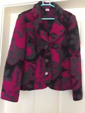 Ladies Libra Pink Grey Patterned Floral Coat Size 10 B15