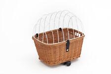 Tigana Hundefahrradkorb für Gepäckträger Weide 44 x 34 cm + Gitter Kissen (N-W)