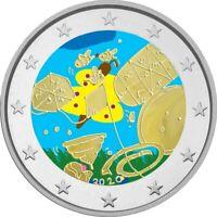 2 Euro Gedenkmünze Malta 2020 Games / Spiele coloriert / mit Farbe / Farbmünze 2