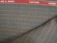 "4.33 yd Holland Sherry Wool Cashmere Capitana 8.5 oz Luxury Suit Gray 156"" BTP"